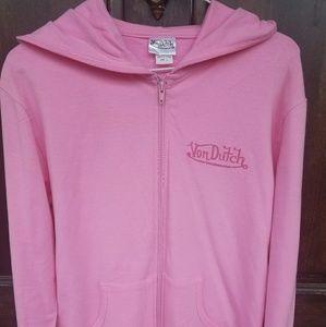 Von Dutch Pink Hoodie Jacket